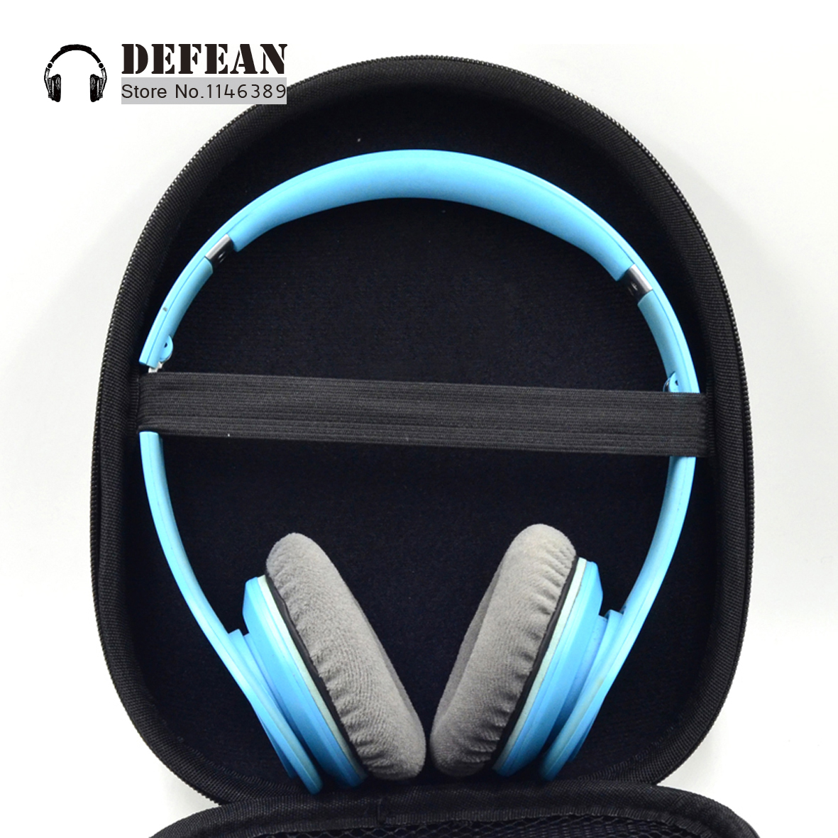 New black Headphone Case storage Pouch Bag For P3 P5 HI-FI HeadphonesFree shipping alistore