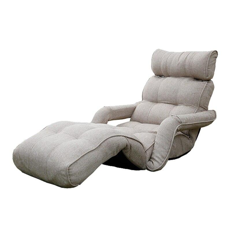 Moderne Pliage Chaise longue Canapé Japonais Style Pliable Unique Canapé Lit 6 Couleurs Salon Meubles Salon Président Méridienne