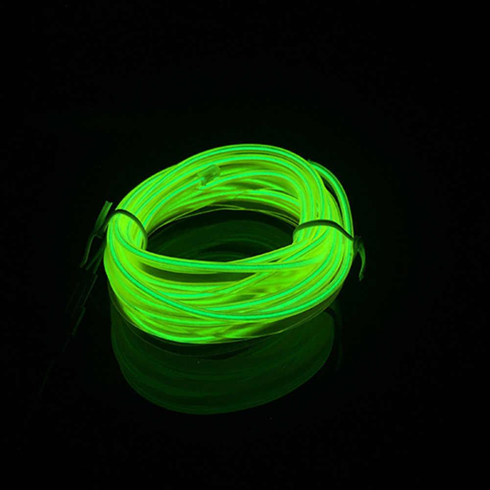 2/3/4/5 M салона свечение EL провода Светодиодные ленты свет веревки 12 V USB Авто Декор свет набор M8617
