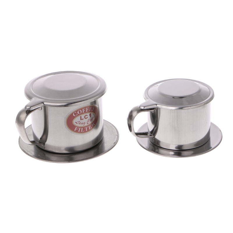 1SET Vietnamese Coffee Filter Stainless Steel Maker Pot Infuse Cup Serving Delicious