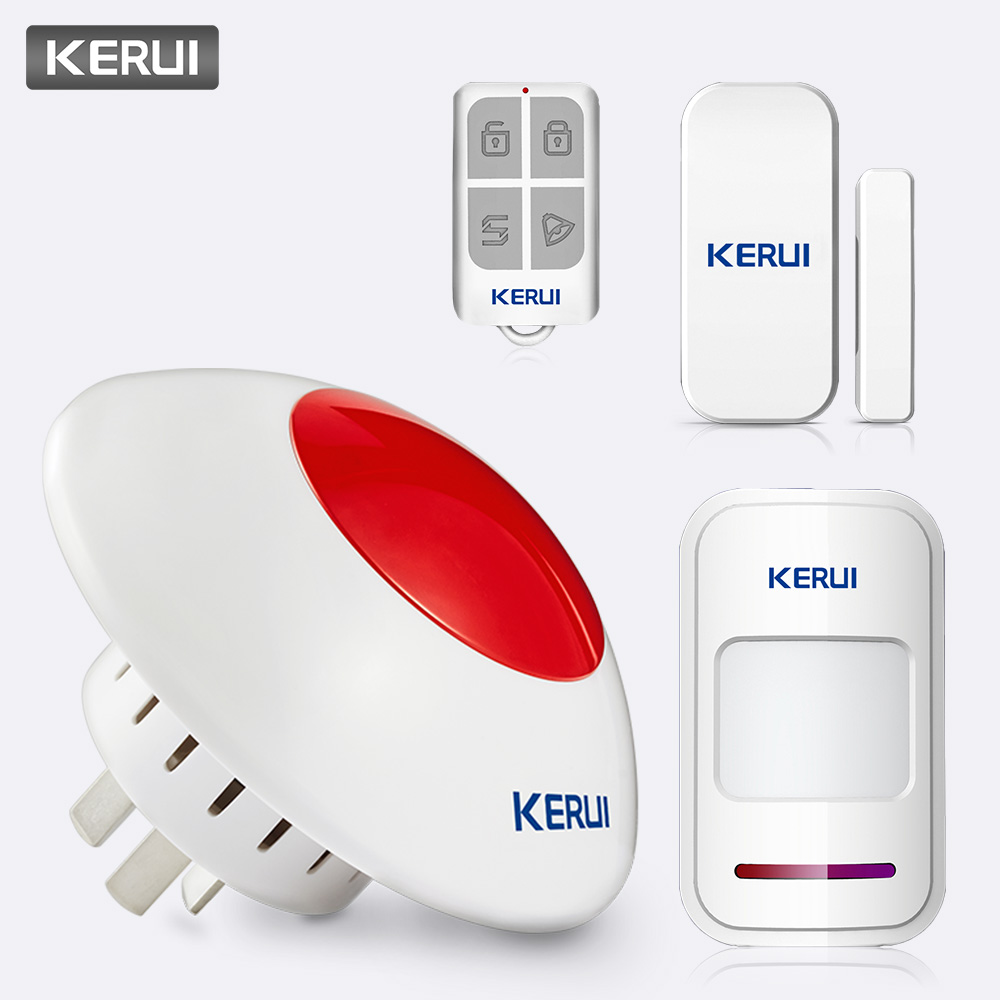 Fuers 433MHz 110dB Volume adjustable Wireless Alarm Siren Flash Horn Red Light Strobe Siren Kit Suit For KERUI Alarm SystemFuers 433MHz 110dB Volume adjustable Wireless Alarm Siren Flash Horn Red Light Strobe Siren Kit Suit For KERUI Alarm System