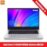 Original Xiaomi Redmibook 14 Laptop Intel Core i5 8265U / i7 8565U NVIDIA GeForce MX250 8GB 256GB/512GB Ultra Thin Notebook