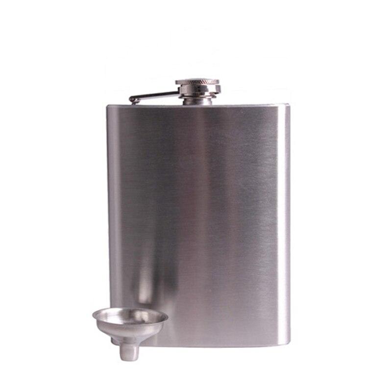 18 oz/500 mL portátil de acero inoxidable frascos de cadera licor Whisky Alcohol bebedores Mini frasco con tapa de tornillo de embudo tapa