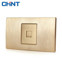 цена CHINT Electric Telephone Wire Connector 118 Switch Socket Wire Drawing Gold Within Block Steel Frame A Telephone Socket онлайн в 2017 году