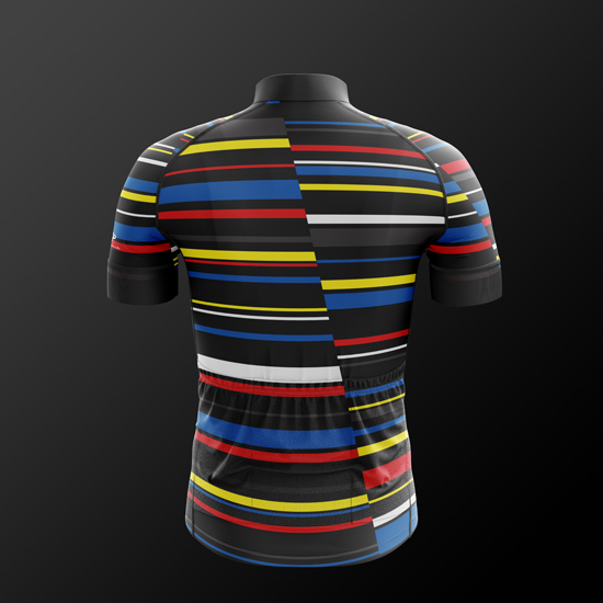 2018 new colourful line pro team aerodynamic fit short sleeve cycling  jerseys High quality bicycle shirt gentleman race jersey-in Cycling Jerseys  from ... 32b331965