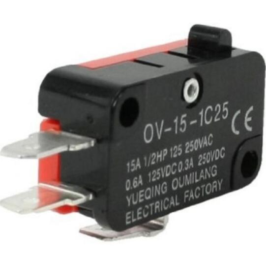 AC 250V 15A Micro Limit Switch Button SPDT Momentary Snap Action CNC V-15-1C25