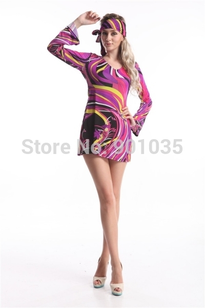 FREE SHIPPING Adult Hippie Girl Fancy Dress Costume 60s 70s Hippy Flower Power Sexy Ladies  sc 1 st  AliExpress.com & FREE SHIPPING Adult Hippie Girl Fancy Dress Costume 60s 70s Hippy ...