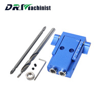 Mini Style Pocket Hole Jig Kit System For Wood Working Joinery 9 5mm Step Drill Bit
