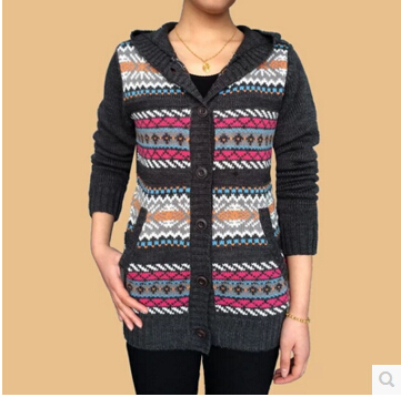 ffce2ffcb35 US $18.03 18% OFF|Cardigan Sweater Leisure Middle aged And Old Women's  Cashmere Sweaters Mother's Clothes Pull Femme Wool Oversized Sweaters-in ...
