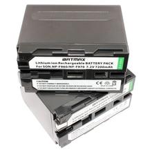 Câmera para Sony 2 Pcs Bateria Recarregável 7200 Mah Np-f970 F970 Npf970 NP F950 Baterias DA Mc1500c 190 P 198 Mc1000c Tr516 Tr555