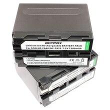2 pcs NP-F970 rechargeable Batterie 7200 mAh NP F970 NPF970 Caméra batteries pour SONY MC1500C 190 P 198 P F950 MC1000C TR516 TR555