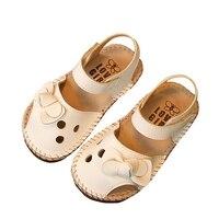 Повседневная детская кожаная однотонная обувь для детской кроватки малыш милый бант обувь 2 цвета