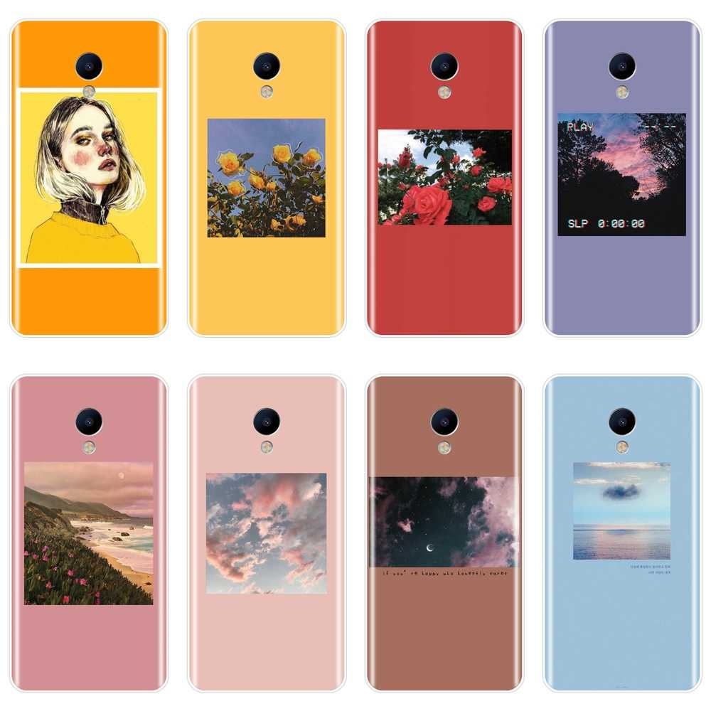 Caixa do telefone Para Meizu M2 M3 M3S M5 M5C M5S M6 M6S M6T Yellow Flower Girl Silicone Suave Tampa Traseira para Meizu M2 M3 M5 M6 Caso Nota