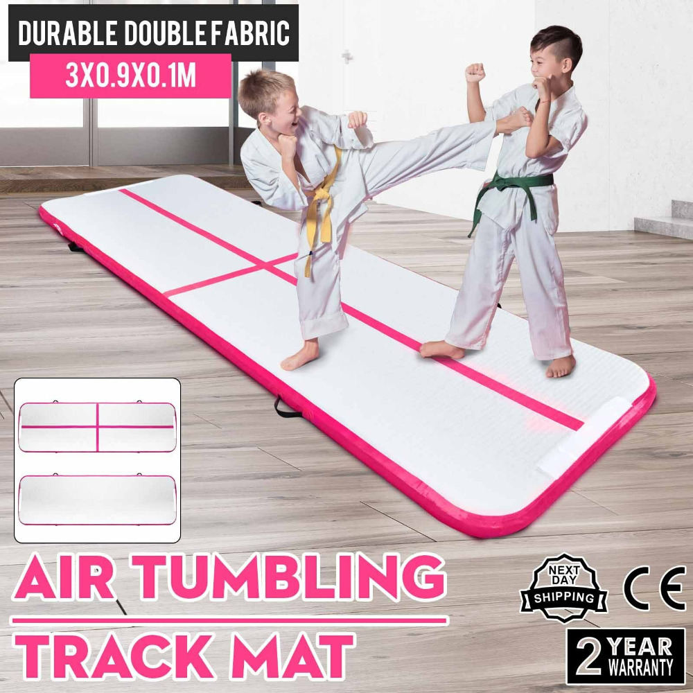 3m Air Track Floor Tumbling Inflatable Gym Mat Water Sport Training Fitness An Enriches And Nutrient For The Liver And Kidney 10ft