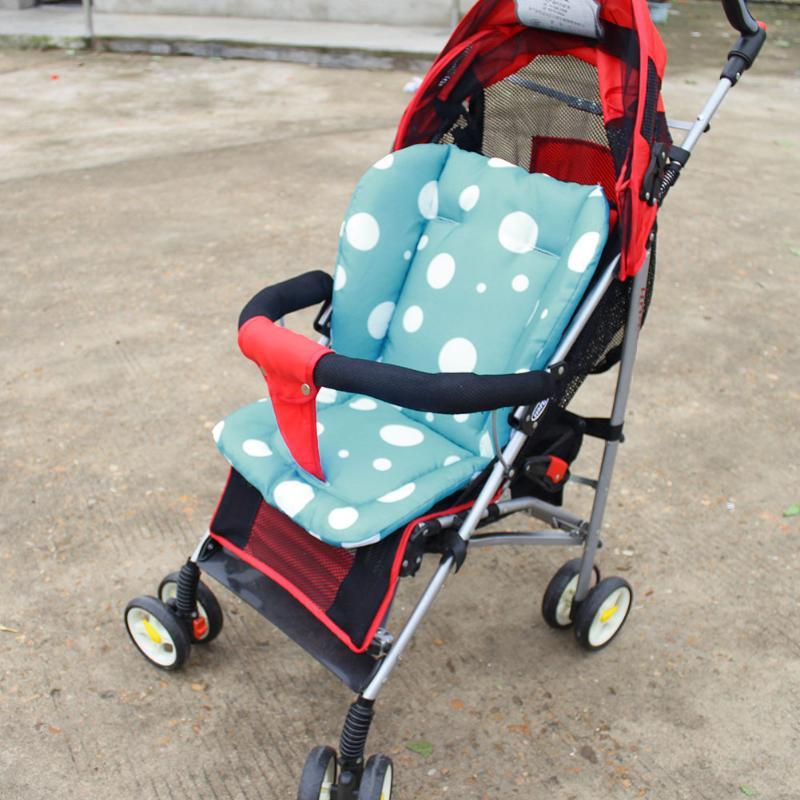Baby Stroller Pad Thicken Dot Oxford Cloth/Cotton/Spandex Pad Chair Cushion Car Seat Mat Newborn Stroller Accessories
