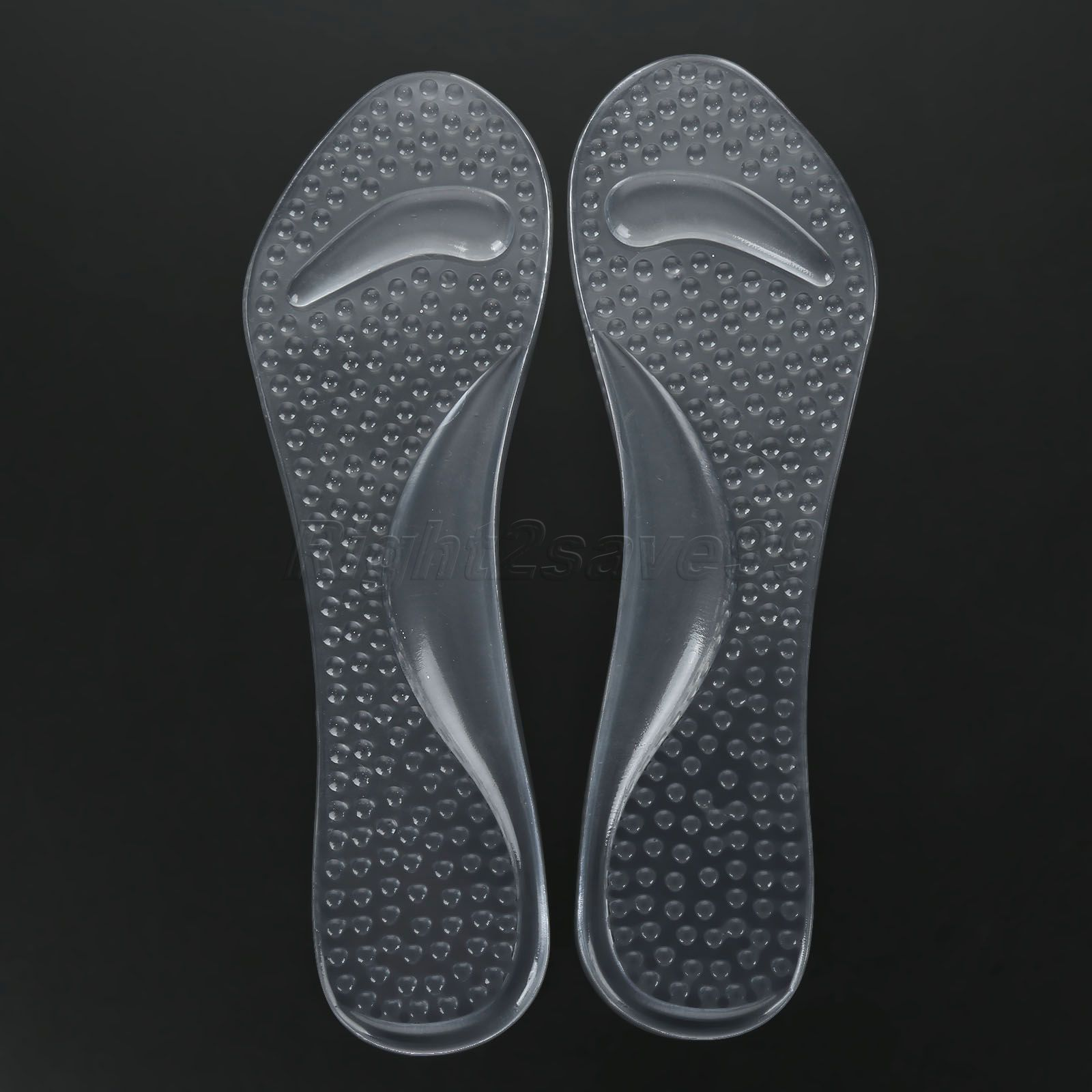 2017 New Arrive 1 Pair Clear Silicone Shoes Non-Slip Sandals High Heel Arch Cushion Support Silicone Gel Pads Shoes Insole