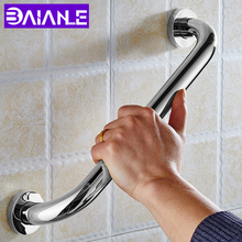 BAIANLE Toilet Safety Handrail Disabled Stainless Steel Bathroom Bathtub Handle Elderly Portable Support grab bar Wall Mounted adjustable size fourth generation toilet armrest for the elderly and disabled closestool safety handrail non slip