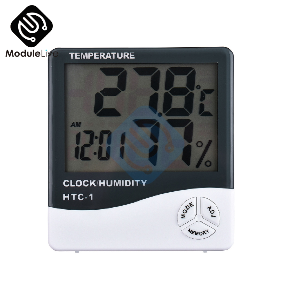 Measurement & Analysis Instruments Tools Lcd Wireless Electronic Clock Thermometer Digital Desktop Table Clock Outdoor Indoor Temperature Measure With High Resolution