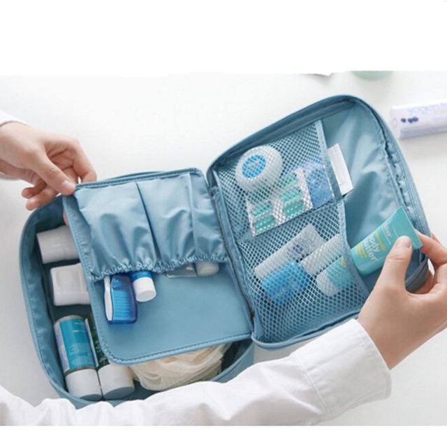 Women Makeup bag nylon Cosmetic bag beauty Case Make Up Organizer