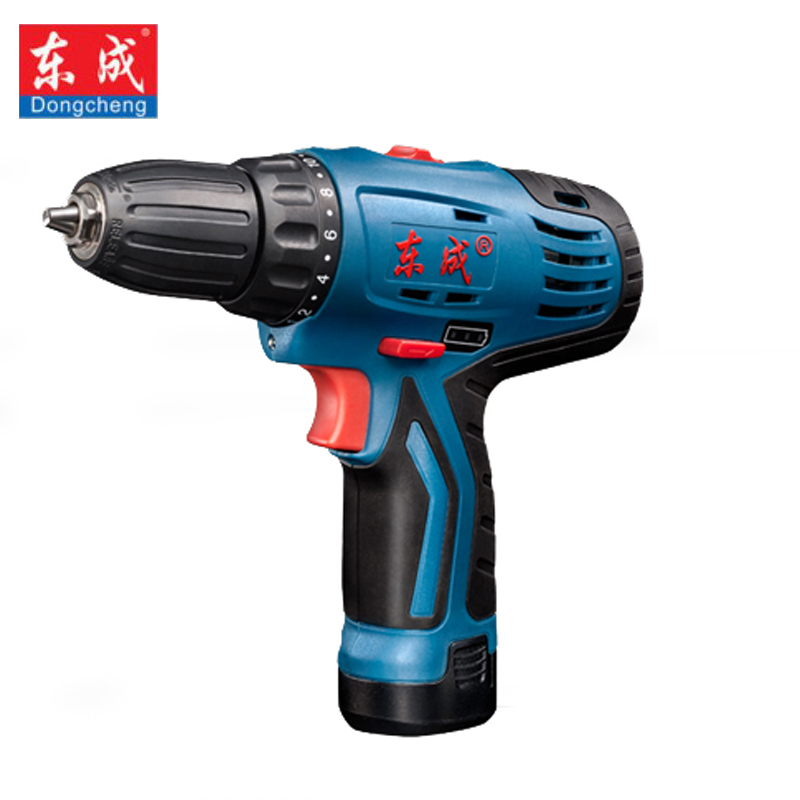 Dongcheng Power Drill 12-Volt Max DC Lithium-Ion Battery 20mm 2-Speed Electric Cordless Drill Mini Screwdriver Impact Driver