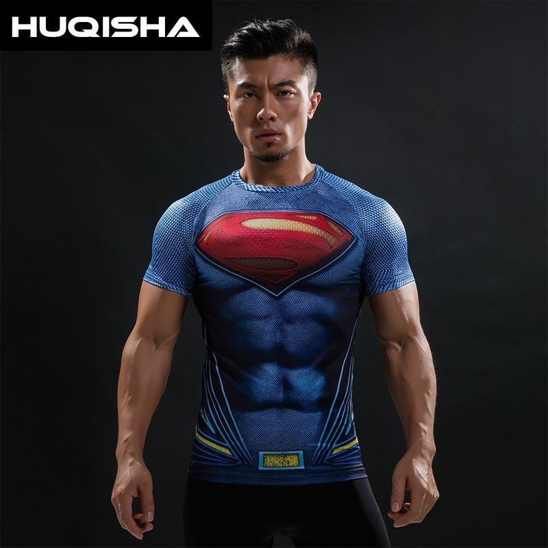 Batman VS Superman T Camiseta 3D Impressos Camisetas Homens Raglan manga  curta Aptidão Cosplay Costume Slim Fit Top Compressão masculino c126be31e0217