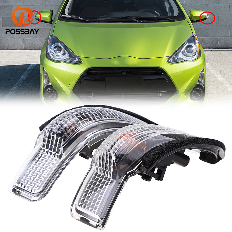 POSSBAY Amber Side Mirror Light LED Rear View Turn Signal Lights Fit Toyota Avalon Corolla Venza Camry RAV4 for Scion iM 2016 dwcx 2x rear view side mirror turn signal light for toyota rav4 audi a6 mercedes benz b class bmw f30 vw kia rio nissan qashqai