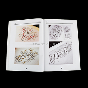 Image 4 - A4 Chicano Calligraphy Font Lettering Tattoo Book Writing Design Pattern Template Design Tattoo Flash Book (78 Pages)