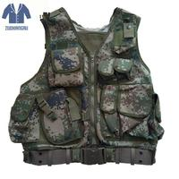 With Multi pocket Men's Vest Multi functional Casual Camouflage Vest Men's Casual Summer Vest Regular Waistcoat One Size
