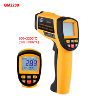 GM2200 Infrared Thermometer Digital IR Laser Temperature Meter Non Contact Pyrometer LCD C F Display USB