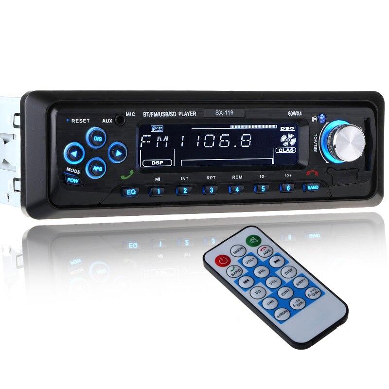 imágenes para 12 V Del Coche de Bluetooth Reproductor de Radio FM Estéreo MP3 USB SD AUX autoradio 1 DIN Audio Auto Electrónica oto teypleri radio párr carro