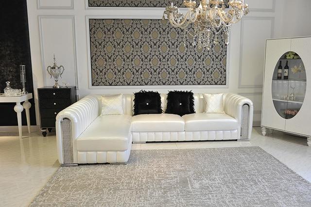 Mobilier Royal salon Classique Véritable canapé en cuir avec coin ...