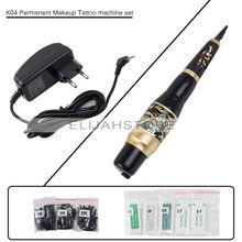 K04 брови татуировки машины комплекты micrbalding постоянный Макияж пера машин набор с 50 Иглы советы ЕС или США штекер