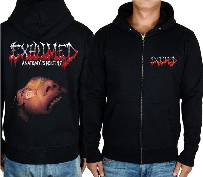 11 видов конструкций на молнии Exhumed Rock hoodies оболочка куртка 3D бренд панк Темный металлический Свитшот saw sudadera спортивная одежда - Цвет: 2