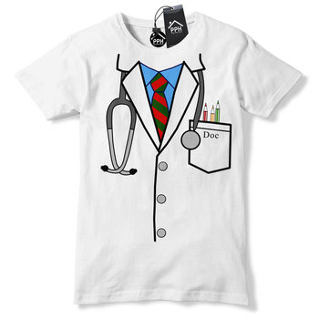 Funny Print T Shirt Men Hot Doctor Uniform Funny T Shirt Novelty Gift Hospital Nurse Surgeon Gift Tshirtbodybuilding T-Shirt