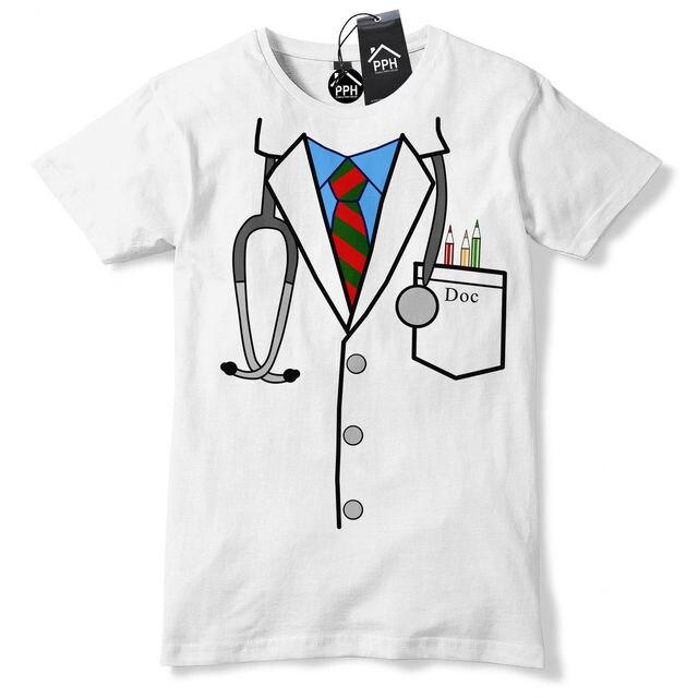 Funny Print T Shirt Men Hot Doctor Uniform Funny T Shirt Novelty Gift Hospital Nurse Surgeon Gift Tshirtbodybuilding T-Shirt