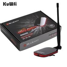BLUEWAY N9000 Беспроводной Wi-Fi адаптер сетевой карты Бесплатная Интернет Long Range USB адаптер 150 Мбит/с Wi-Fi декодер с 5dbi Телевизионные антенны