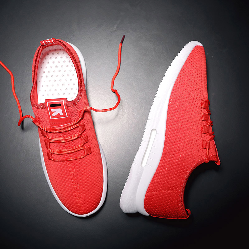 Pure Color Light Casual Shoes Mesh Cloth Men's Shoes Breathable Walking Jogging Shoes Large Size Men's Shoes 46 (1)