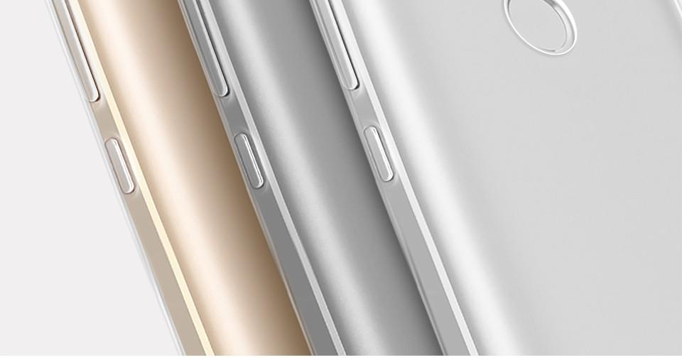 Pzoz xiaomi redmi 4 case silikonowy pokrowiec oryginalny xiaomi redmi 4 pro slim przejrzystą ochronę soft shell 4x redmi redmi 4A 6