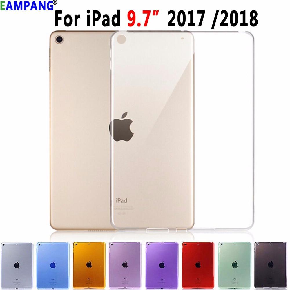 Soft Silicon Transparent Slim Cover Case For Apple IPad 9.7 2017 2018 5th 6th Generation A1822 A1823 A1893 A1954 Coque Funda