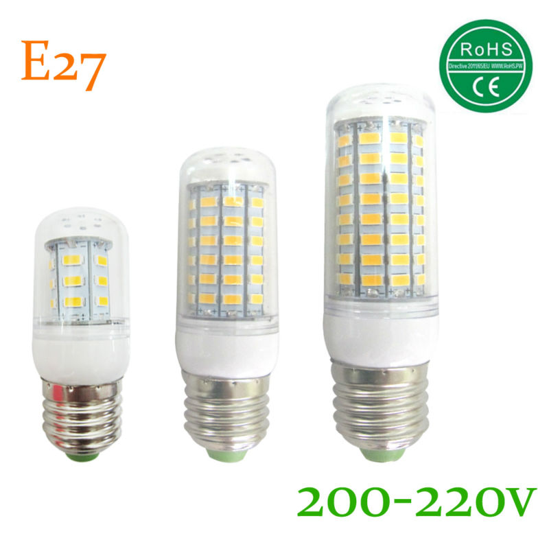 bombillas led bulb e27 smd led light lamparas 5730 24 36 48 56 69 72 81 89 led lampada IC led lamp e27 bulb candle 220 v