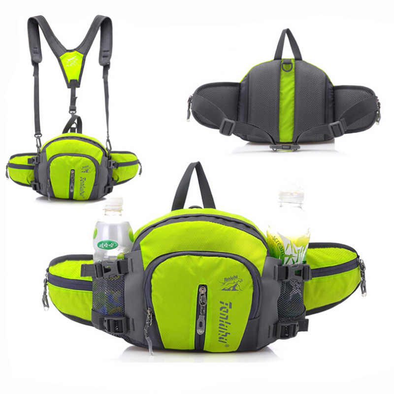 New nylon multi-function waist bag men and women kettle bag large capacity travel bag SL ...
