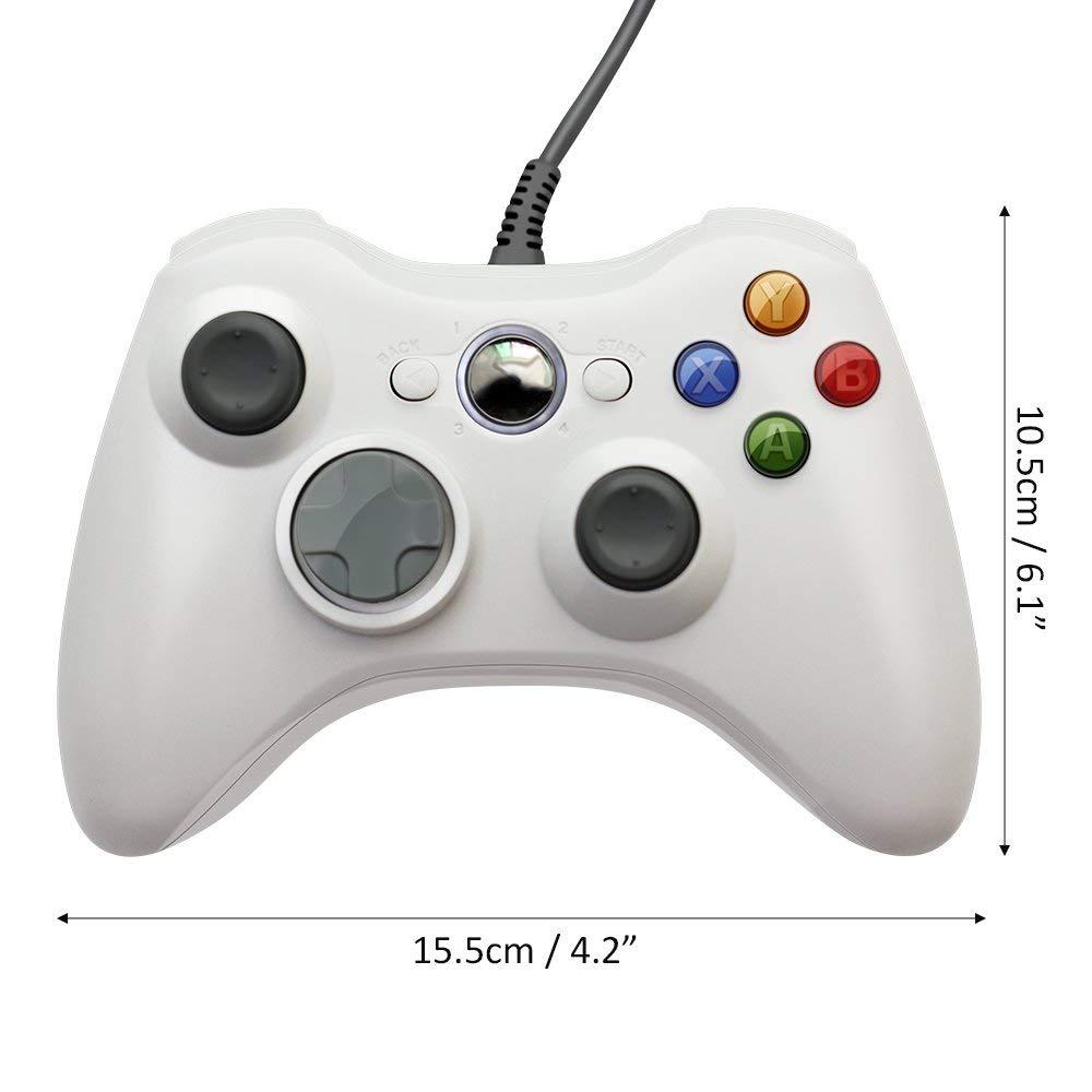 USB vadu gamepad Xbox 360 kontrolierim Controller vadības svirai - Spēles un aksesuāri - Foto 6