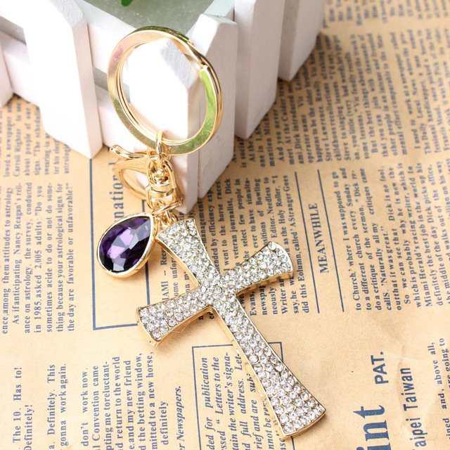 6266ea30eb66 Online Shop Cross Ten Word Lovely Fashion Cute Rhinestone Charm Pendant  Crystal Purse Bag Key chain Gift Nice Substantial Amazing Quality