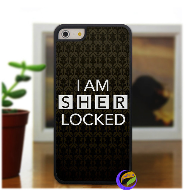 I Am Sherlocked Wallpaper Fashion Case Cover For Iphone 5 5S 4 4S 5C 6