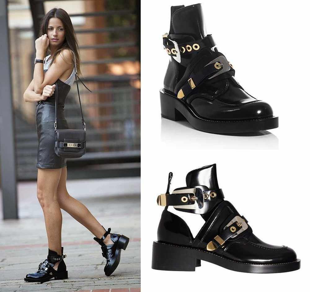 2017 New arrival Cutout buckle boot