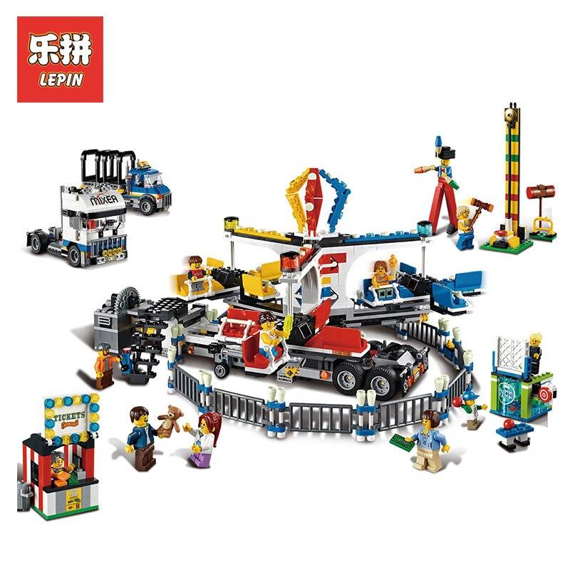 LEPIN 15014 1858Pcs Amusement park carnival Model Building kits Blocks bricks CREATOR LegoINGlys 10244 Architecture toys gift