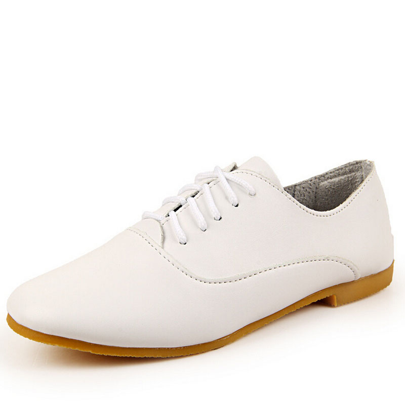 Autumn New women oxford shoes causal flats shoes genuine leather shoes moccasins lace-up loafers black casual white shoes 5d61 new women shoes fashion genuine leather spring autumn casual shoes lace up loafers shoes heavy bottomed platform white shoes