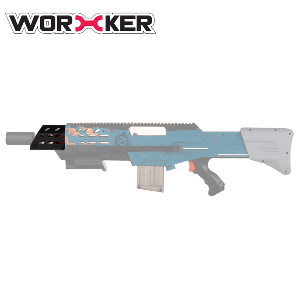 Travailleur f10555 3D Imprimer Longues Sniper Décoratif Tête Tube pour Nerf Zombie Grève ZED Équipe Longshot CS-12 N-Grève elite Longshot