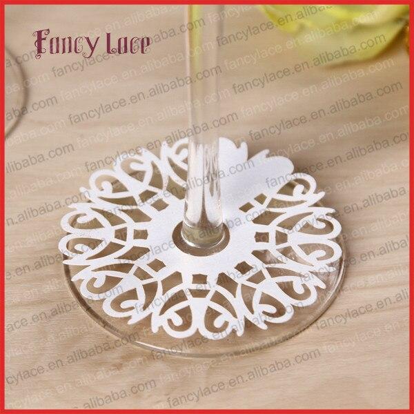 50pcs Paper Cut Garland Wedding Decoration Wine Claim,Heart Christmas Banquet Table Decoration Cards Party Favor