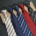 Zipper Gravata Gravata 8 cm Preguiçoso Fácil Puxar Para Banquete Do Casamento Do Noivo de Negócios Formal Terno Comercial dos homens